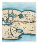 Strabo World Map, C20 A.d Fleece Blanket