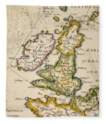 Map Of Great Britain, 1623 Fleece Blanket