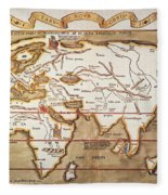 Waldseemuller: World Map Fleece Blanket