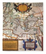 Map Of The Roman Empire Fleece Blanket
