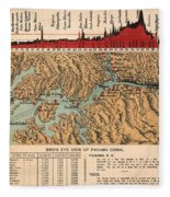 Card: Panama Canal, 1914 Fleece Blanket