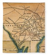 Underground Railroad Map Fleece Blanket