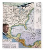 Charles Lindbergh Fleece Blanket