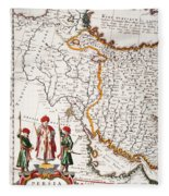 Mesopotamia, 1662 Fleece Blanket