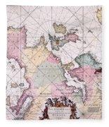 Map: European Coasts, 1715 Fleece Blanket