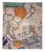 Pacific Ocean/asia, 1595 Fleece Blanket
