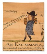 Cartoon: Whiskey Tax, 1794 Fleece Blanket