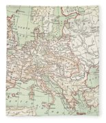 Map Of Europe, C1812 Fleece Blanket