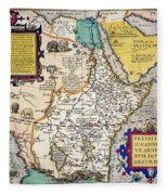 African Map, 1595 Fleece Blanket