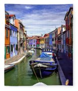 0045 Burano Colors 2 Fleece Blanket