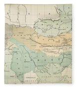 Balkan Map, 1885 Fleece Blanket