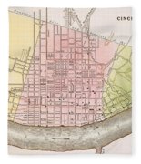 Cincinnati, Ohio, 1837 Fleece Blanket