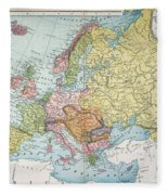 Map: Europe, 1885 Fleece Blanket