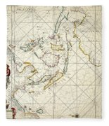 Map: East Indies, 1670 Fleece Blanket