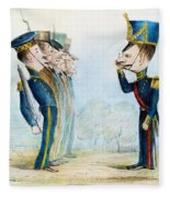 Cartoon: Mexican War, 1846 Fleece Blanket