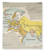 World Map, C1300 Fleece Blanket