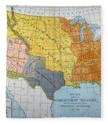 U.s. Map, 1776/1884 Fleece Blanket