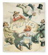 U.s. Cartoon: Businessman Fleece Blanket
