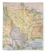 Map: U.s. Expansion, 1905 Fleece Blanket