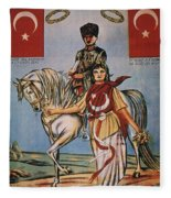 Republic Of Turkey: Poster Fleece Blanket