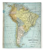 South America: Map, C1890 Fleece Blanket