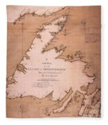 Cook: Newfoundland, 1763 Fleece Blanket