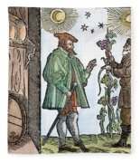 Wine Merchant, 1582 Fleece Blanket