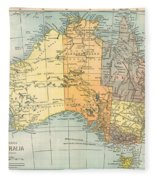 Map: Australia, C1890 Fleece Blanket