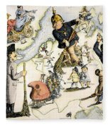 Europe: 1848 Uprisings Fleece Blanket