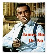 007, James Bond, Sean Connery, Dr No Fleece Blanket