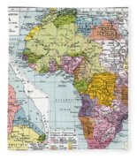 Partitioned Africa, 1914 Fleece Blanket