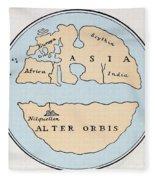 World Map, 1st Century Fleece Blanket