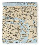 World Map 2nd Century Fleece Blanket