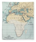 Map: Phoenician Empire Fleece Blanket