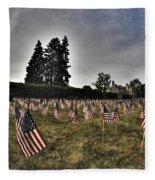 01 Flags For Fallen Soldiers Of Sep 11 Fleece Blanket