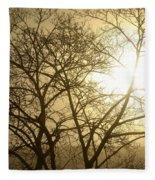 01 Foggy Sunday Sunrise Fleece Blanket