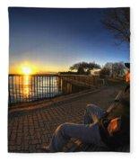01 Me Sunset 16mar16 Fleece Blanket