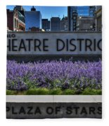 01 Plaza Of Stars Buffalo Theatre District Fleece Blanket