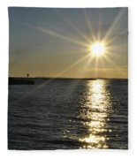 01 Sunset 16mar16 Fleece Blanket