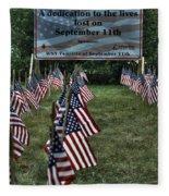 010 Flags For Fallen Soldiers Of Sep 11 Fleece Blanket