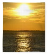 010 Sunset 16mar16 Fleece Blanket