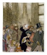 Rackham: City, 1924 Fleece Blanket
