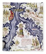 Marco Polo (1254-1324) Fleece Blanket
