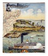Mississippi Steamboat Fleece Blanket