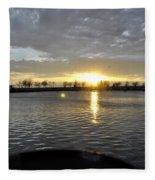012 April Sunsets Fleece Blanket