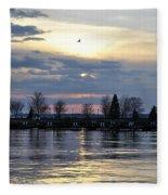 013 April Sunsets Fleece Blanket