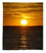 014 Sunset 16mar16 Fleece Blanket