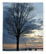 015 April Sunsets Fleece Blanket