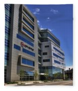 02 Conventus Medical Building On Main Street Fleece Blanket