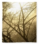 02 Foggy Sunday Sunrise Fleece Blanket